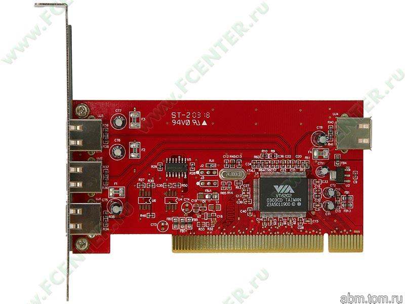 Контроллер USB2.0 (PCI) 4-port