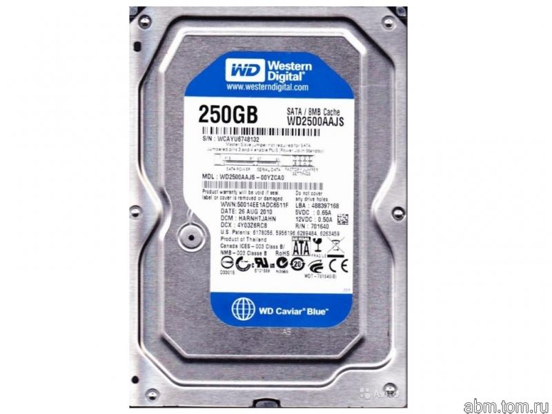 Жесткий диск SATA Western Digital WD2500AAJS 250 Gb 7200 rpm 3.5