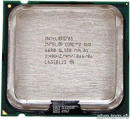 775 Процессор Intel Core 2 Duo E6600 2.40GHz/4M/1066 (SL9S8)